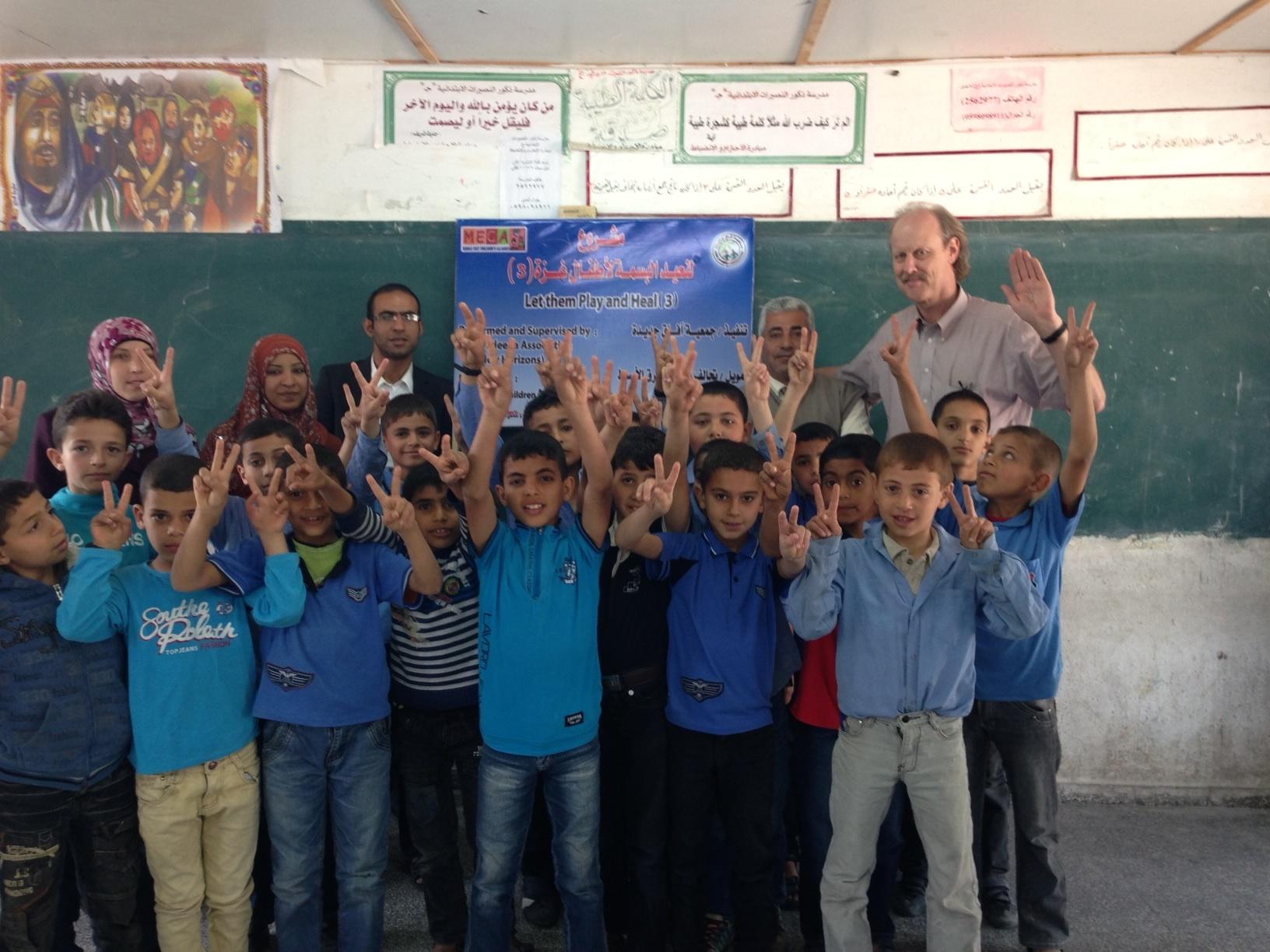 """Children in Afaq Jadeedah's """"Let the Children Play and Heal"""" Program"""