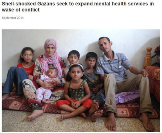 WHO Gaza image of family