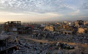 A general view of Gaza City after last conflict between Israel and Hamas.
